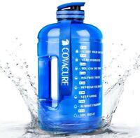Motivational 1 Gallon Water Bottle, BPA Free Large Water Bottle Hydration (NEW)