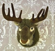 "Dunelm 20"" Plush Reindeer Stag Head Wall / Door Hanging Christmas Decoration"