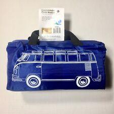 VW Volkswagen Split Screen Kombi Bus Campervan Picnic Beach Blanket BLUE