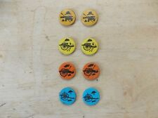 8 Small Vintage Colorful Military Artillery & Helmet/Hat Refrigerator Magnets
