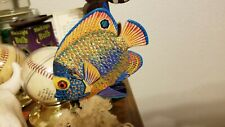 Fish, mantle art, lot, meticulously hand painted, great works of art
