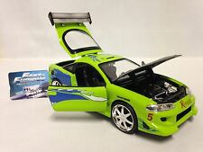 Fast Furious Brian's, 1995 Mitsubishi Eclipse, 1:24 Diecast, Jada Toy, Green