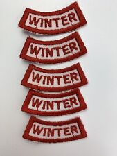 Winter Red Curved Banner Boy Scouts of America Patches Badges (Lot of 5) New