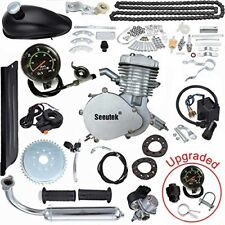 PK80 80cc Bicycle Engine Kit 2 Stroke Gas Motorized Bike Motor Speedometer