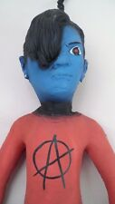 "23"" Tall Freaky Rubber Blue Alien Punk Boy Doll w/ Anarchy Shirt Converse Shoes"