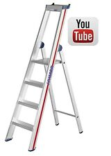 Step Ladder Class1 Platform Heavy Duty Industrial Aluminium Platform Steps Hymer
