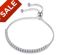 Sterling Silver Adjustable Bracelet With Swarovski Elements