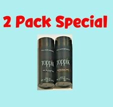 Toppik Hair Building Fibers �� 2 Pack � Dark Brown Black Medium Light �� 27.5 g