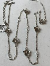 Brighton Cherry Blossom Silver Single Strand Necklace New With Tag