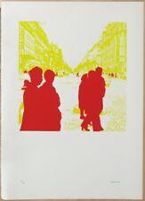 Gérard Fromanger (né en 1939)  Titre: Boulevard des Italiens