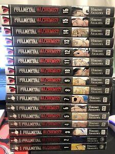 Fullmetal Alchemist Vol 1-16 Lot English