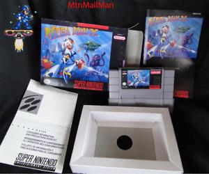Snes MegaMan X Super Nintendo CIB Complete Authentic Cart,manual,Dust,NEW Box