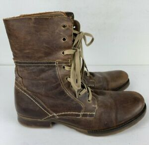 Bull Boxer Thrasos Men's US Size 10 Brown Leather Ankle Boots EU Size 43