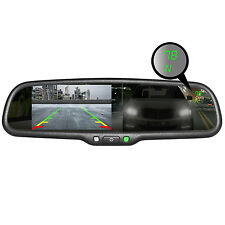 "Master Tailgaters OEM Rear View Mirror w/ 4.3"" LCD Auto Dimming Temp Compass"