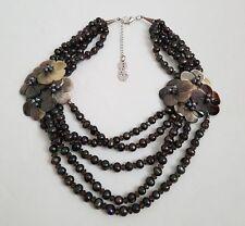 ❀ ڿڰ ❀ Butler & Wilson vintage perla y flor Cluster Collar ❀ ڿڰ ❀