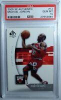2005 SP Authentic #12 MICHAEL JORDAN, Graded PSA 10 Gem Mint, Chicago Bulls HOF!