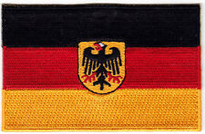 GERMAN/EAGLE FLAG  - Iron On Embroidered Applique Patch, German Flag