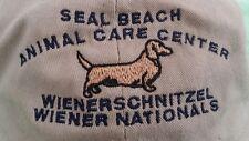 Weiner Nationals Dachsund Hat Trucker Baseball Seal Beach CA Animal Care Center