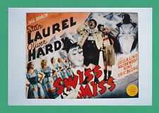 ACTORS  -  POSTER  PHOTOGRAPH  -  LAUREL  &  HARDY  -  SWISS  MISS   (A)