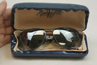 Maui Jim Sunglasses  Akoni MJ-117-02 62[]14 130 MADE Italy Black Frame Lens