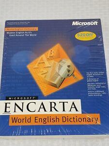 Microsoft Encarta World English Dictionary for Windows 95 98 NT Workstation- NEW