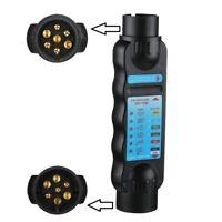 Car Trailer Caravan 7 Pin Towing Tow Bar Light Wiring Circuit Tester Plug Socket