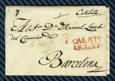 -= ESPAGNE - Lettre de CALATAYUD (Aragon) pour BARCELONE (Catalogne) - 1842 =-