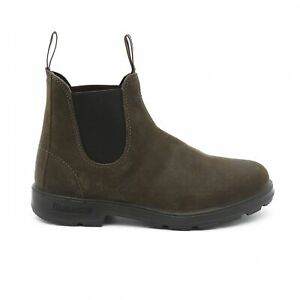 NEW Blundstone Style 1615 Dark Olive Suede Leather Boots For Men