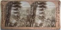 Parigi Esposizione Universale 1900 Pavillon Siam Foto Stereo Vintage Albumina