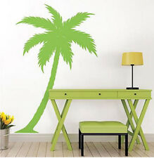 PALM TREE wall stickers MURAL 10 decals tropical leaves decor over 6 feet high
