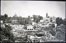 Mexico~1930's Guernavaca Mor. ~ Aerial View of Town ~ Real Photo Pc Rppc