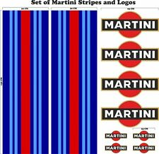 Le Mans Martini Racing style Stripe and Logo Set Sticker decal A648aa