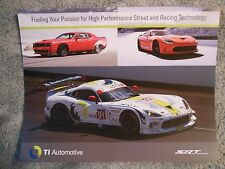2014 Dodge Viper SRT GTS-R & Challenger Facts Card TI Automotive New