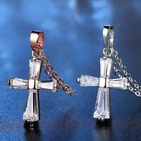 Charm Zircon Crystal Rhinestone Necklace Pendant Sweater Chain Women Jewellery