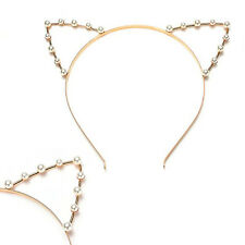 Cat Ear Headband Pearl Shape Rhinestone Hair Band Headwear-Highlight in the L5C0
