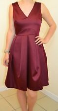 NEXT NEW UK 12 LADIES BERRY SATEEN DRESS
