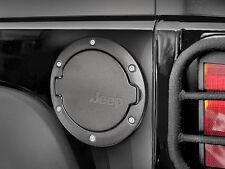 Black Fuel Filler Door Gas Tank Cover For 2007-2015 Jeep Wrangler 2 & 4 Door