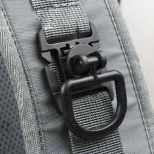 2PCS MOLLE PALS 1-inch Webbing Tactical Clips D-Ring Elastic Tie-down Strap CLCV