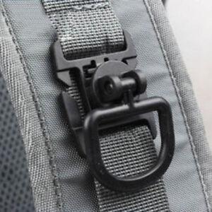 1PCS MOLLE PALS 1-inch Webbing Tactical Clips D-Ring Elastic Tie-down Strap^lk