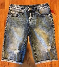True Religion Boys Denim Slim Cut-Off Short 10 12 14 New