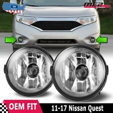 For Nissan Quest 11-17 Factory Bumper Replacement Fit Fog Lights Clear Lens