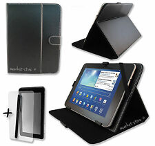 "Black PU Leather Case Stand for BARNES & NOBLE BNTV600 NOOK 9"" Inch Tablet PC"