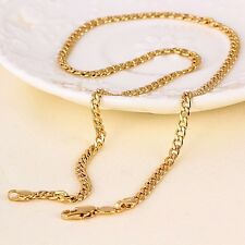 """9ct 9K Yellow """"Gold Filled"""" Men Ladies Curb Ring Link chain necklace 18"""". Gift"""""""
