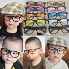Children Kids Girls Trendy Glasses Frame No Lens Vintage Fashion Retro Trendy