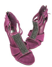 DV BY DOLCE VITA WOMEN'S CELINE ANKLE-STRAP PUMP MAGENTA SUEDE US SIZE 7 MEDIUM