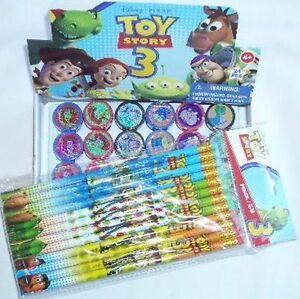 Disney Pixar Toy Story 12 Pencil & 12 Self Inking Stamper Topper School Supplies