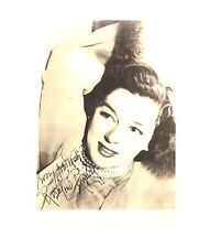 Rosalind Russell-signed VINTAGE photo