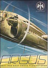 ARGUS MOTORANLAGE AS 411 pubblicità werbung advert AEREO GUERRA WAR PLANE RARE