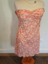 Size M 10 12 Orange One Teaspoon strapless cotton patterned lined sundress