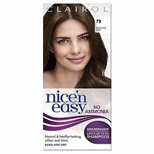Clairol Nice N Easy No Permanentes Tinte Cabello Sin Amoniaco medio de oro marrón 78